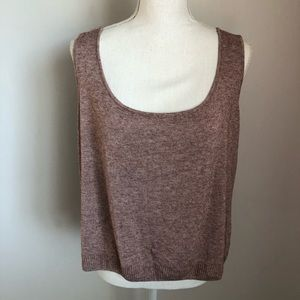 St. John Mauve/Pink Scoop Neck Tank Top Sz XL.